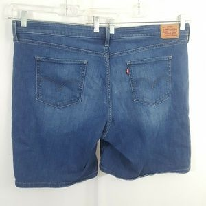 Levis Stretch Short Blue Jean Denim Womens W22